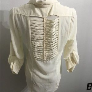 Agaci cream ladder back blouse